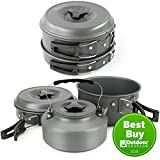 Winterial Camping Cookware and Pot Set, 10 Piece