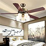 Modern Crystal Ceiling Fan Lamp Plastic Reversible Blades with 5 Foldable Transparent Acrylic