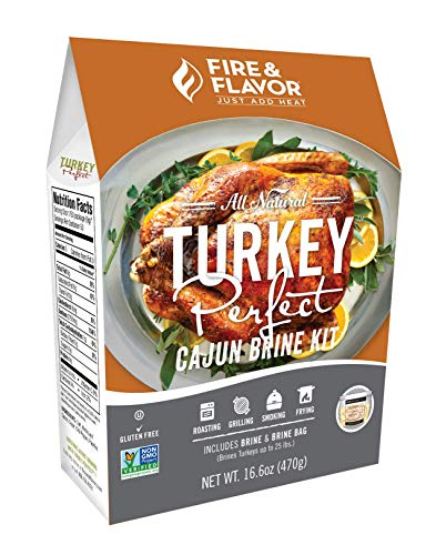 Fire & Flavor All Natural Turkey Perfect Cajun Brine Kit, Perfect for Roasting, Grilling, Smoking, and Frying 16.4 Ounces, Pack of 2