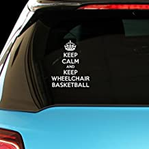 KEEP CALM AND KEEP WHEELCHAIR BASKETBALL Car Laptop Wall Sticker