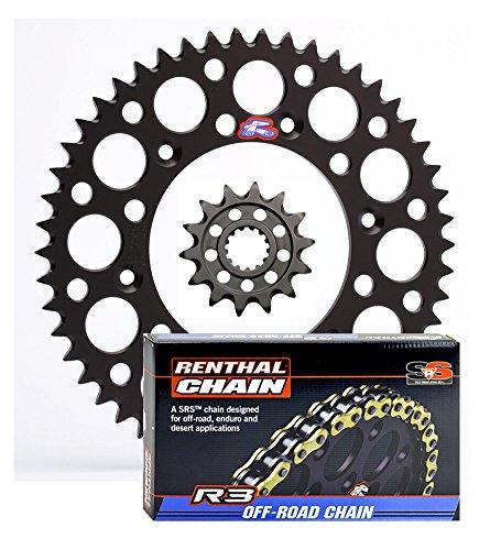 Renthal Ultralight Front & Rear Sprockets & R3 O-Ring Chain Kit - 14/50 BLACK - Husaberg/Husqvarna/KTM