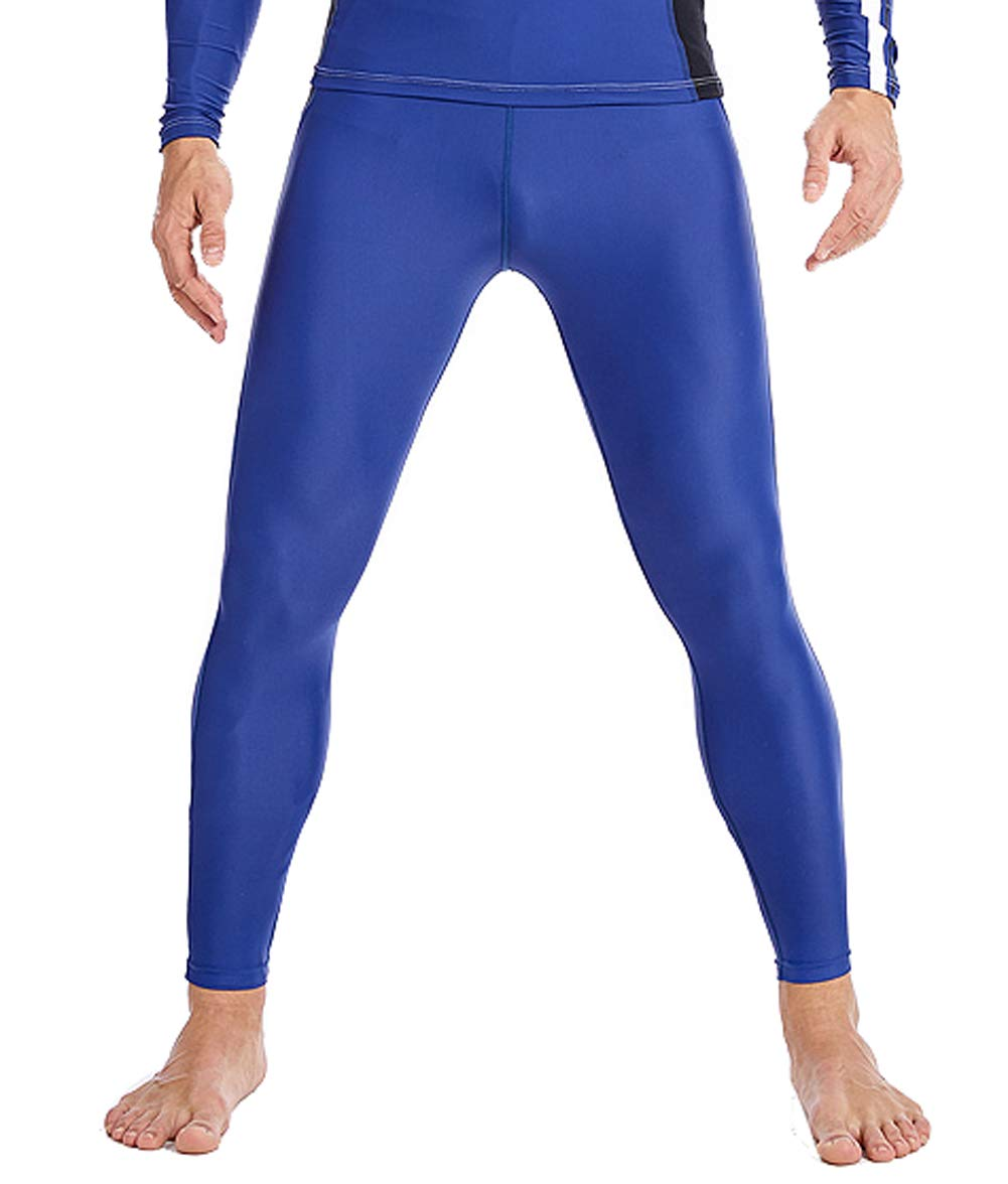 SABOLAY Men Swim Pants Quick Drying Full Length High Compression Watersports Diving Legging 2XL Blue by SABOLAY
