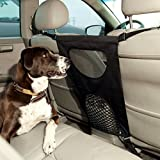 GoodStore Dog Barrier, Pet Dog Car Barrier Seat Mesh Obstacle, Oxford Cloth Dog Backseat Barrier Adjustable Divider to Keep Driver Safety, Easy to Install for Car,SUV,Truck (Black) (Black)