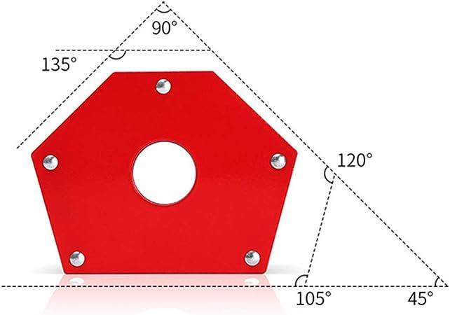 posicionador de soldadura electromagn/ético triangular para accesorios de soldadura de equipos de 45 /° 90 /° 135 /° Localizador de soldadura magn/ética