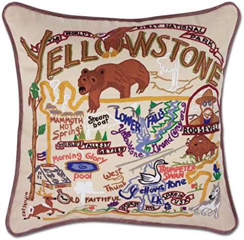 Catstudio Yellowstone Embroidered Decorative Throw Pillow