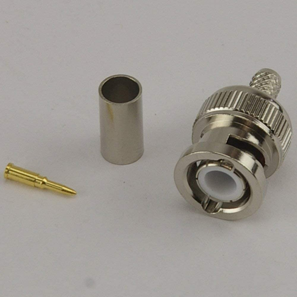 CLF200 Pack of 50 BNC Male Crimp Connector