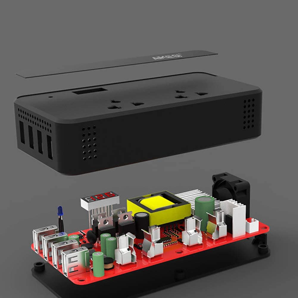 D/&F Voiture Onduleur 12V 24V /à 220V M/éNage Alimentation Convertisseur Multifonctionnel Prise De Courant Chargeur,12//24V