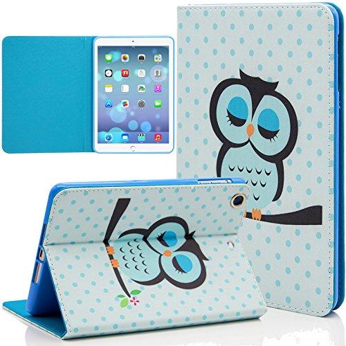 iPad Mini Case, Dteck(TM) Cartoon Cute Paint PU Leather Flip Folio Magnetic Stand Case with Auto Wake/Sleep Smart Cover for Apple iPad Mini/ Mini 2 Retina/ Mini 3 (02 Cute Owl)