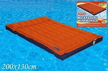 materassino gonfiabile matrimoniale 200x130cm per mare piscina e ... - Materasso Gonfiabile Matrimoniale