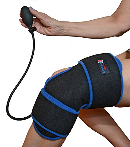 Reusable Ice Pack for Knee - Cold Therapy Compression Wrap with Air Pump for Pain Relief - Long...