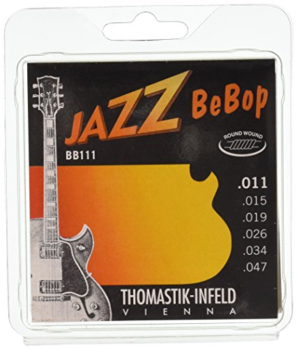 Thomastik-Infeld BB111 Jazz Guitar Strings: Jazz Bebop Series 6 String Set - Pure Nickel Round Wounds E, B, G, D, A, E Set