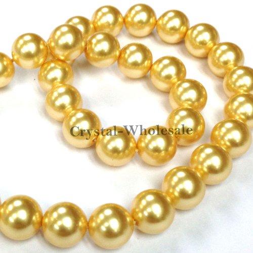 500 pcs Swarovski 5810 Crystal Pearls beads 6mm GOLD PEARL (001 296)