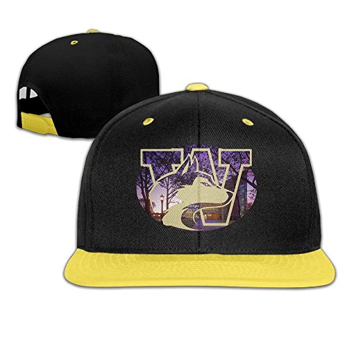 Harriy University Of Washington Kids Trucker Baseball Cap Snapback Cap Yellow
