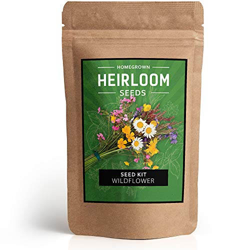 Wildflower Seeds - Flower Seed Pack [17 Variety] - Perennial Flower Seeds for Attracting Birds & Butterflies - Flower Seeds for Planting - Non GMO, Open Pollinated - 15,000 Garden ()