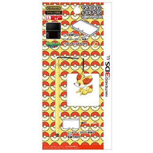 Pokemon 3DS XL FENNEKIN Touch Pen Mascot Figure Stylus Nintendo Black White BW XY