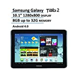 """Newest Samsung Galaxy Tab 2 10.1"""" Tablet with 1.5 GHz Dual-Core processor, 8 GB Flash Memory(Upgradable to 32 GB microSD slot), Plane to Line (PLS) Display, Bluetooth, 4G LTE (Sprint), Android 4.0(Certified Refurbished)"""