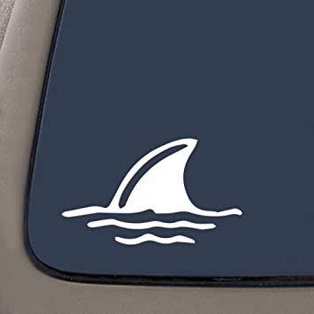 Amazoncom NI Shark Fin In Water Die Cut Vinyl Window Decal - Vinyl window decals amazon
