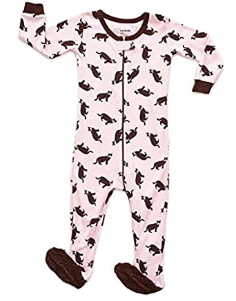 Amazon.com: Leveret Baby Girls Footed Sleeper Pajama 100% Cotton ...