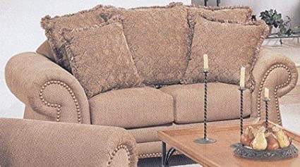 Amazon.com: Camel Canvas Fabric Couch Loveseat/Love Seat ...
