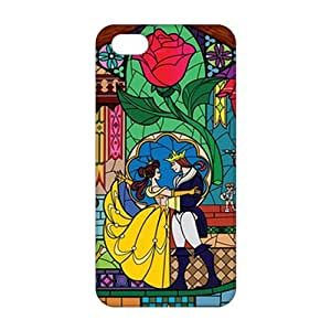 Fortune 3D Case Cover Beauty And Beast Cartoon Anime Phone Case For Sam Sung Galaxy S4 Mini Cover