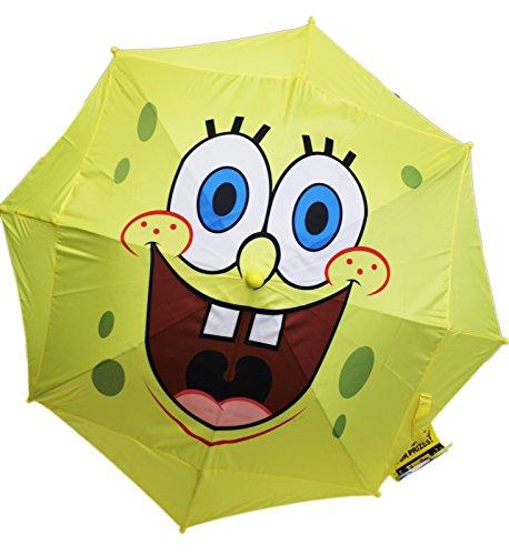 Spongebob Squarepants Smiling Face w/Molded Figure Handle Kids (Spongebob Umbrella)