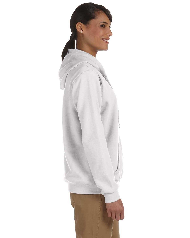 By Gildan Ladies Heavy Blend 8 Oz, 50/50 Full-Zip Hood - White - 2XL - (Style # G186FL - Original Label)