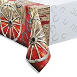 "Rodeo Western Plastic Tablecloth, 84"" x 54"""