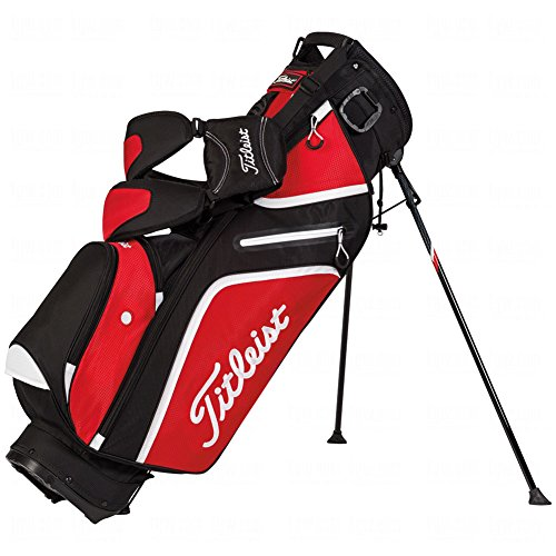 Titleist Ultra Light Weight Stand Bag, Black/Red/White