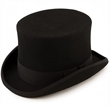 Express Hats Quality Wool Felt Top Hat 5 inch Crown Height (Satin Lined) ( 4e4438599d6