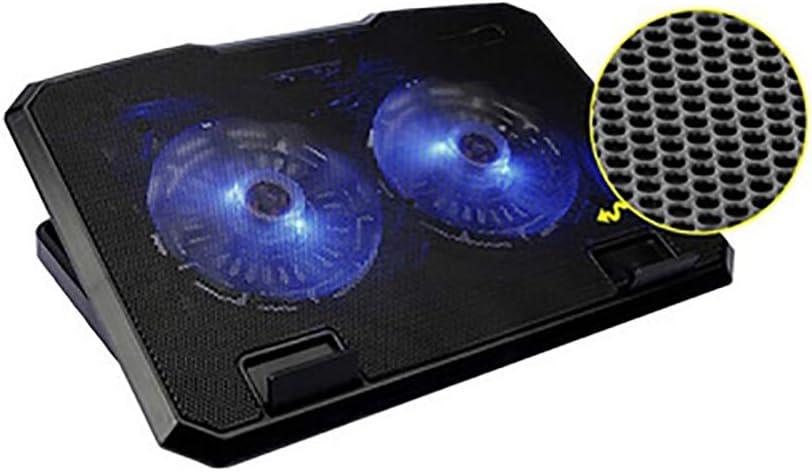 Multi-Angle Adjustment Aluminum Alloy Laptop Radiator Lifting 2 Fan Cooling Base HAJZF Notebook Cooler