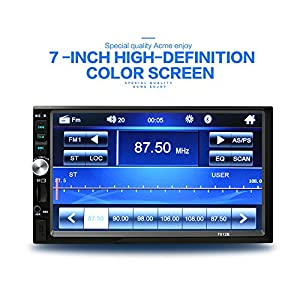 7 inch Double Din Touch Screen Car Stereo with Bluetooth MP5 player Car Radio support AUX/FM/TF/USB with Wireless Remote and Camera