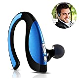 Bluetooth Headphone Stereo Music Bluetooth Headset Clear Microphone Wireless Earpieces for Ios iPhone 7 6 5S 6S Plus Samsung Galaxy S5 S6 S7 Edge S8 Plus Truck Driver Bluetooth Cellphones Blue