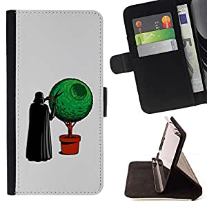 DEVIL CASE - FOR HTC DESIRE 816 - Funny Vader Bonsai - Style PU Leather Case Wallet Flip Stand Flap Closure Cover