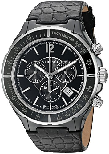 Versace-Mens-28CCS9D008-S009-Dv-Stainless-Steel-Watch-with-Black-Leather-Band