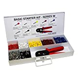 2850 Piece Wire Ferrules Starter Kit with Self Adjusting Tool-22 AWG to 10 AWG Insulated Connectors-SK600SQ