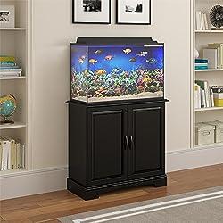 Altra Furniture Ameriwood Home Harbor 29-37 Gallon Aquarium Stand, Black