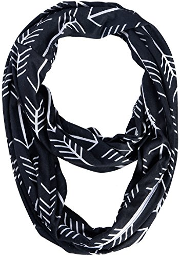 Black Scarf Infinity Travel Scarves for Iphone 7 -