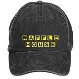 nmmnggsimida Unisex Waffle House Logo Baseball Caps One Size ColorName Velcro Adjustable
