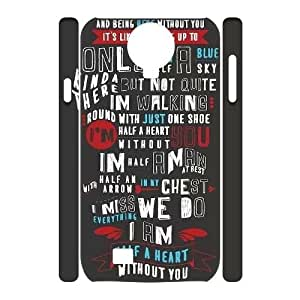 One Direction Quotes SamSung Galaxy S4 I9500 3D Cover Case, One Direction Quotes DIY 3D Cell Phone Case, SamSung Galaxy S4 I9500 Custom Case