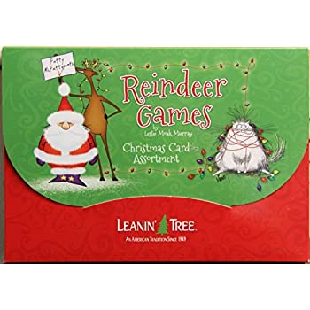 Leanin Tree Christmas Down on the Farm 20 Cards Holiday Box Envelopes
