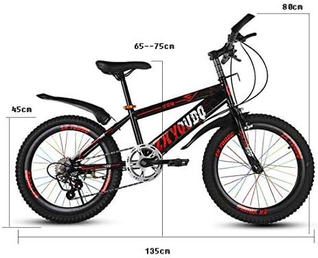 GRXXX Bicicleta de montaña Cambio de Velocidad Frenos de Disco Bicicleta de Carretera Adultos Niños 18 Pulgadas,Red-18 Inches: Amazon.es: Hogar