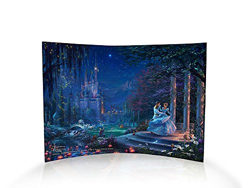 Disney's Cinderella (Dancing in the Starlight) Curved Acrylic Print Home Decor - Thomas Kinkade Artwork - 10