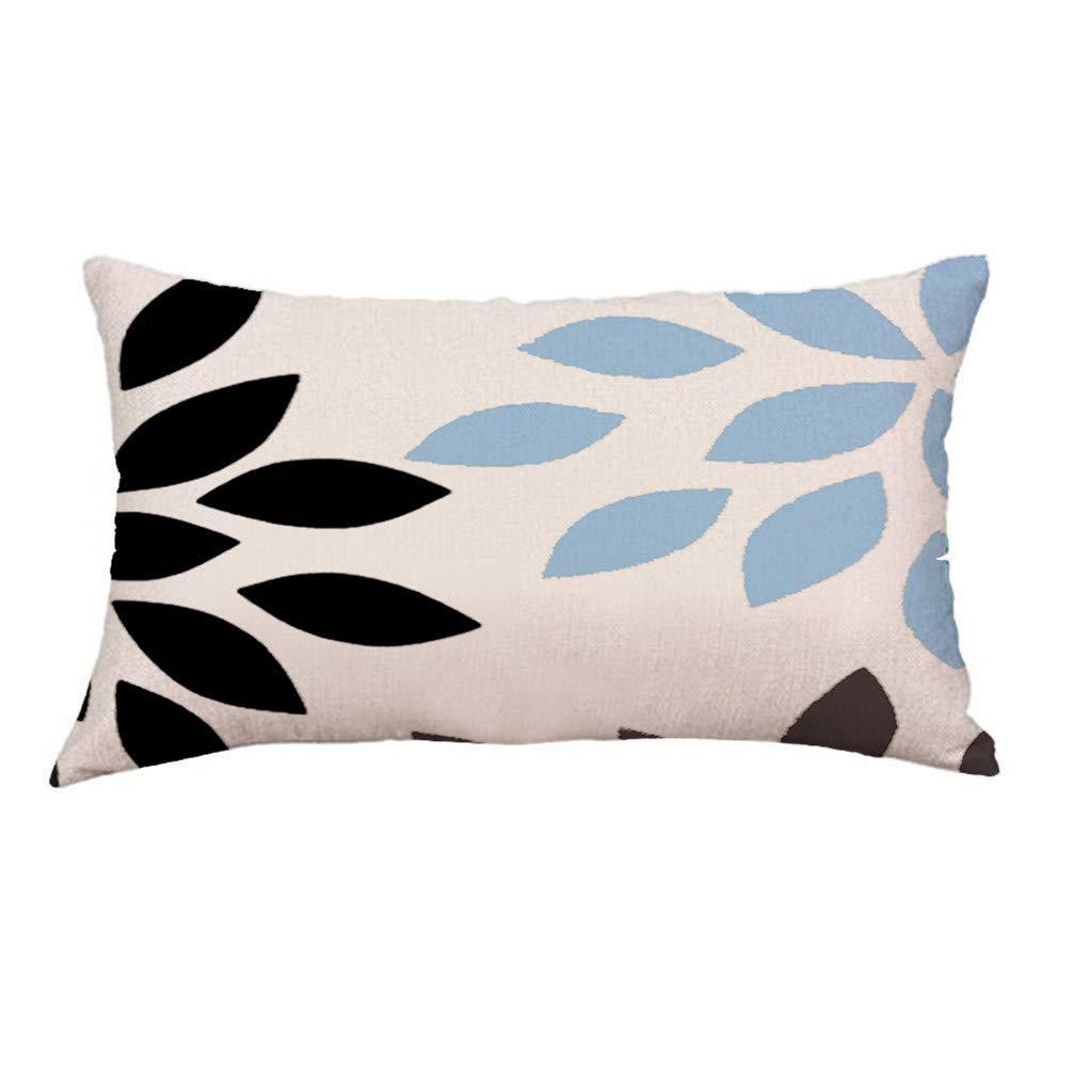 LIUguoo New Short Plush Super Soft Geometric Decorative Throw Pillow Case Cushion Cover for Couch Sofa Bedroom Car 12 x 20 30x50cm