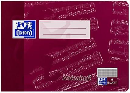Notenheft DIN A5 8 Blatt mit Hilfslinien Oxford 90g Lin 14 - Liefermenge 1 Stück