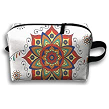Too Suffering Lotus Flower With Abstract Modern Style Travel Bag Multifunction Portable Toiletry Bag Organizer Storage