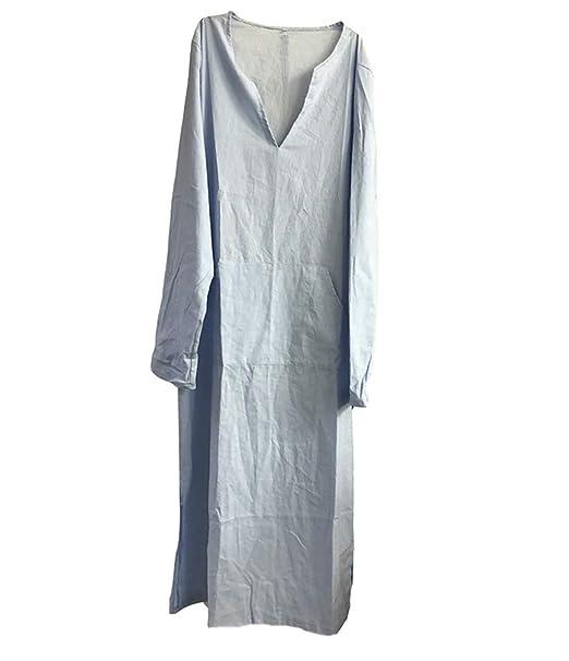 timeless design 12cf1 6a6d5 Abiti Casual da Uomo in Caftano, Lino vestibilità asciutta Abito Vintage  Etnico di Dubai Abbigliamento mediorientale Abito Arabo Saudita con Tasche