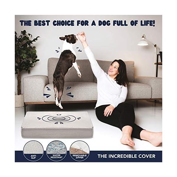 ZENAPOKI Dog Bed - M - Orthopädisches Kissen für Hunde, gut die Gelenke - Hundebett flauschig aus Memory Schaum, Dog Bed…