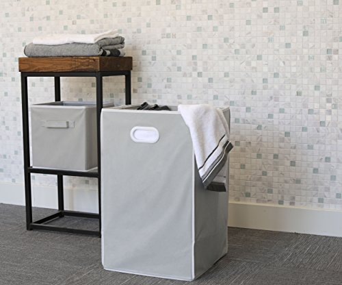 Simple Houseware Foldable Closet Laundry Hamper Basket, Grey