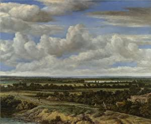 'Philips Koninck An Extensive Landscape with a Road by a River ' oil painting, 18 x 22 inch / 46 x 56 cm ,printed on Perfect effect canvas ,this Replica Art DecorativeCanvas Prints is perfectly suitalbe for Bedroom artwork and Home artwork and Gifts