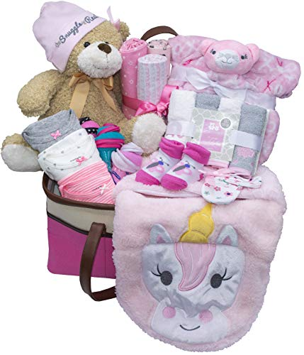 - Joyful Arrival Deluxe Baby Gift Set (Girl or Boy) - Diaper Organizer, Baby Clothes & More (Mainly Clothes, Girl)